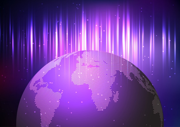 Globe op abstracte achtergrond
