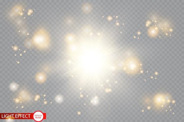 Gloed effect. glinsterende feeënstofdeeltjes