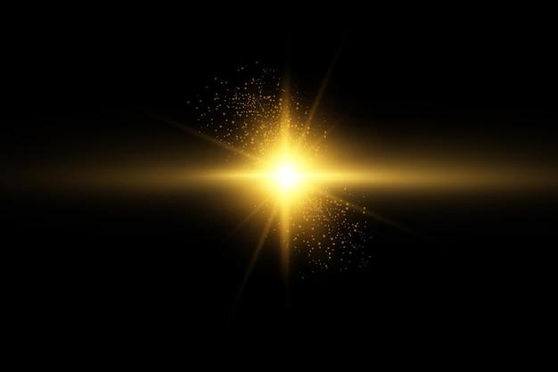 Gloed geïsoleerd wit transparant lichteffect set lens flare explosie glitter lijn zon flits