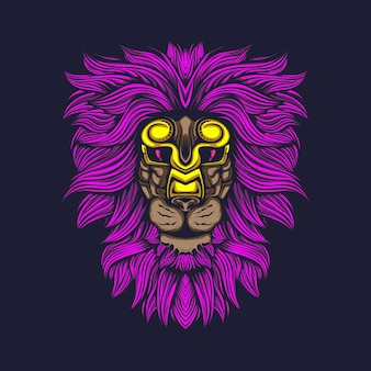 Gloed leeuw haar met gouden masker