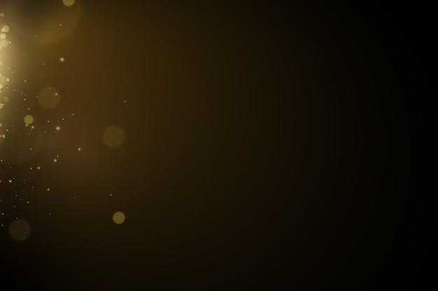 Gloed licht effect. sprankelende magische stofdeeltjes. de stof vonken en gouden sterren schijnen mee.