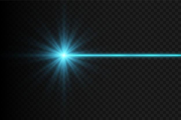 Gloed lichteffect geïsoleerd op zwarte achtergrond