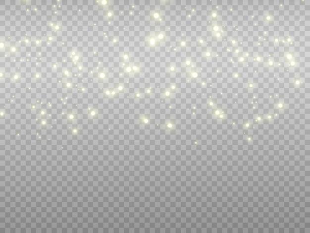 Gloed lichteffect ster barstte met glitters