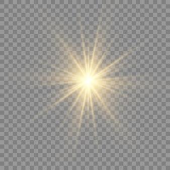 Gloed lichteffect. ster barstte van sparkles.sun.