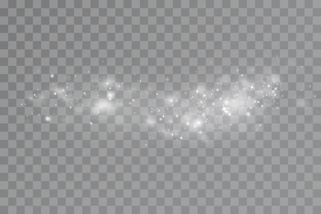 Gloed lichteffect vectorillustratie kerstmis flitsstof