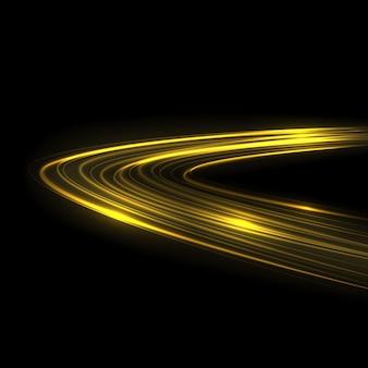 Gloed lichtspooreffect. gloeiend flitsspoor geïsoleerd