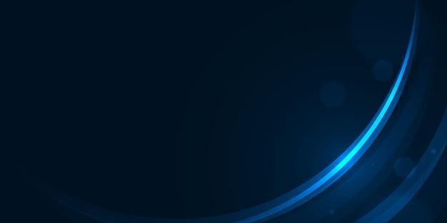 Gloedcurve licht op donkerblauwe abstracte achtergrond.