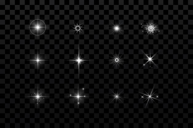Gloei-effect, gloeiende deeltjessterren