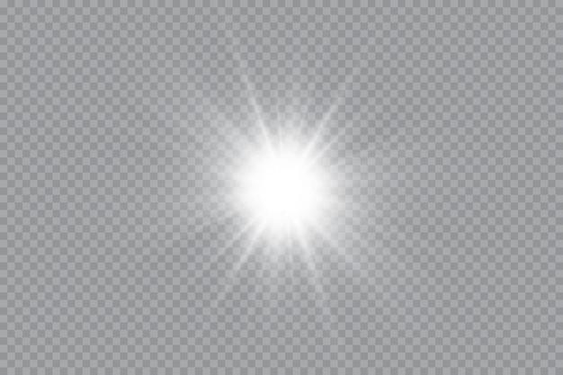 Gloei-effect ster schittert op transparant