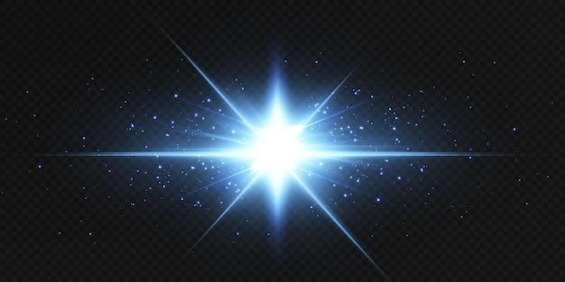 Gloeiend lensflare-effect. helder lichteffect.