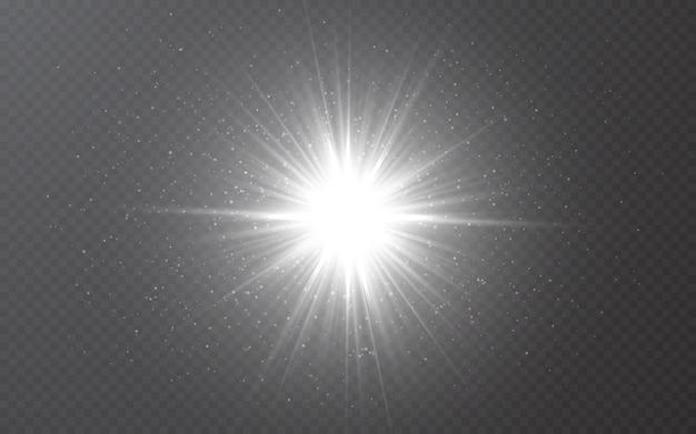Gloeiend lichteffect op transparante bakgrond