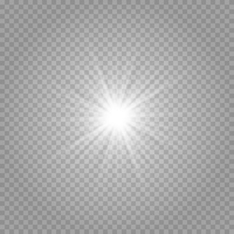 Gloeiend lichteffect, overstraling, explosie en sterren