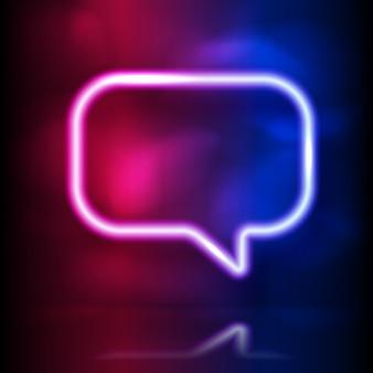 Gloeiend neon tekstballonframe.