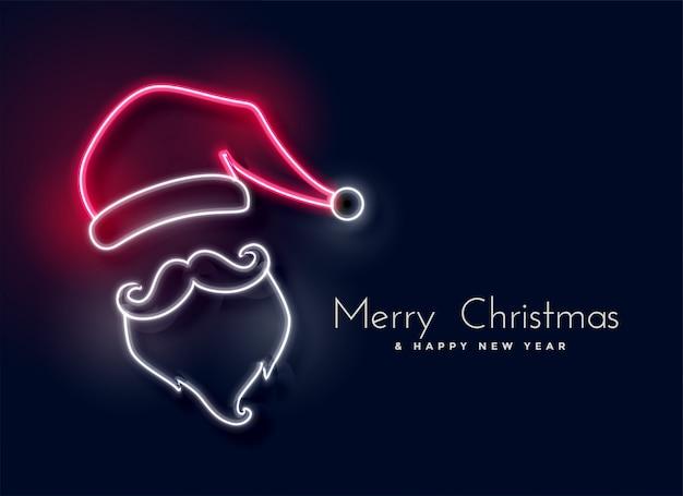 Gloeiend neonlicht de kerstman