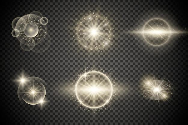 Gloeiend sterrenlicht of uitbarsting van licht