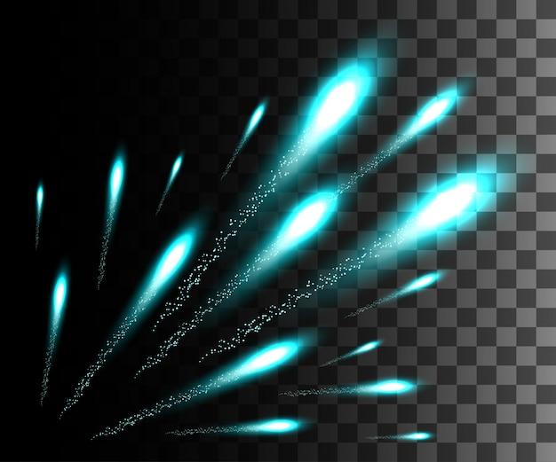 Gloeiend wit transparant effect, lensflare, explosie, glitter, lijn, zonneflits, vonk en sterren. voor illustratie sjabloon kunst, banner voor kerstmis vieren, magische flits energie straal
