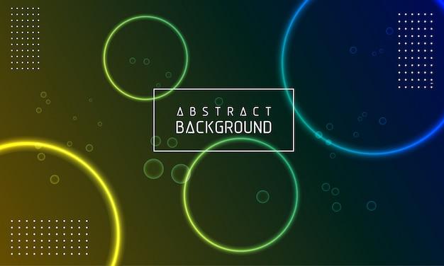 Gloeiende cirkel abstracte moderne achtergrond