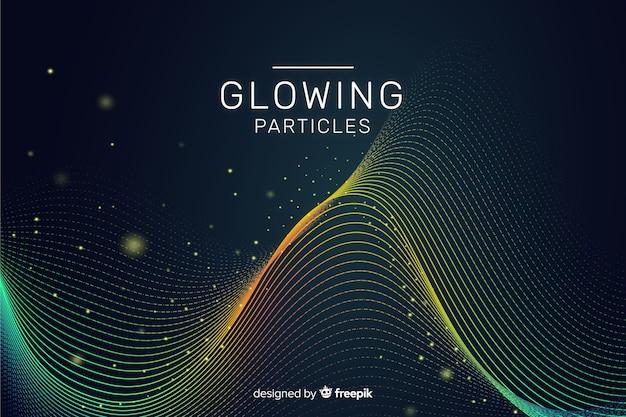 Gloeiende deeltjes achtergrond