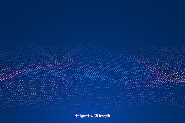 Gloeiende fractal grid golf achtergrond