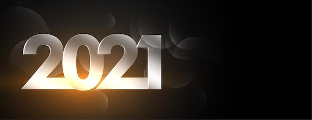 Gloeiende gelukkig nieuwjaar zwarte banner