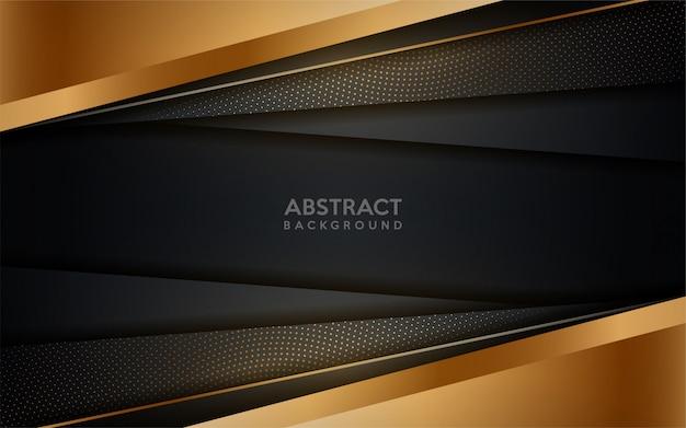 Gloeiende gouden moderne donkere achtergrond met gouden stippen element.
