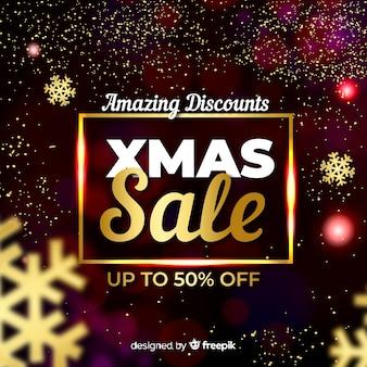 Gloeiende kerst koop banner