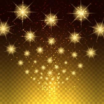 Gloeiende licht sterren achtergrond