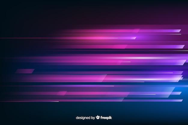 Gloeiende lichte beweging futuristische achtergrond