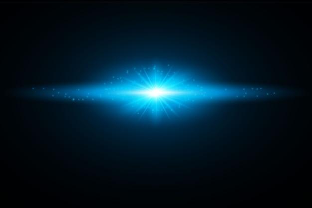Gloeiende lichte burst-explosie. decoratie met straal schittert. heldere ster