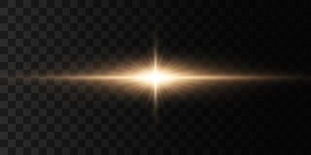 Gloeiende lichten en ster.