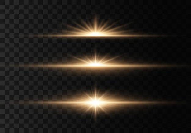 Gloeiende lichten en sterren.