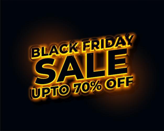 Gloeiende lichten gouden zwarte vrijdag verkoop banner