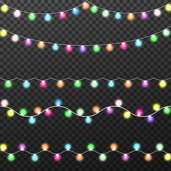 Gloeiende lichten voor kerstmis, slingersdecoraties
