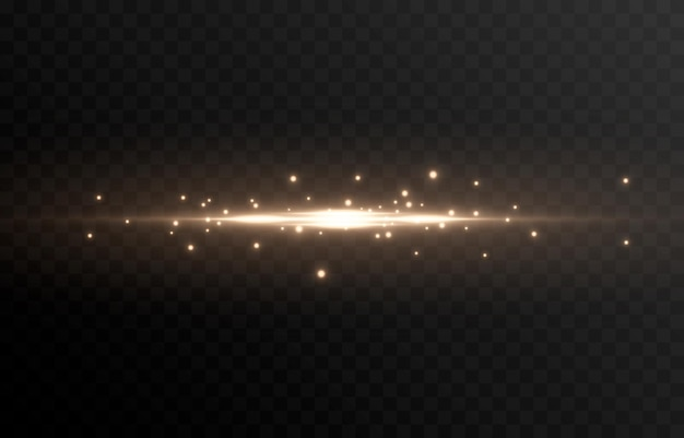 Gloeiende lichtlijn magische gloeddeeltjes van licht vonken gloeiende lijn png vector afbeelding Premium Vector