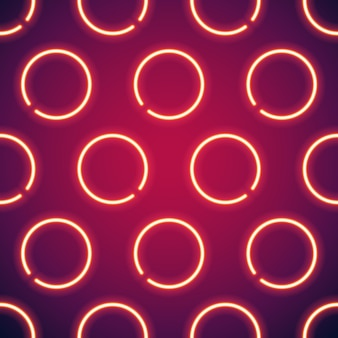 Gloeiende neon cirkels naadloze achtergrond