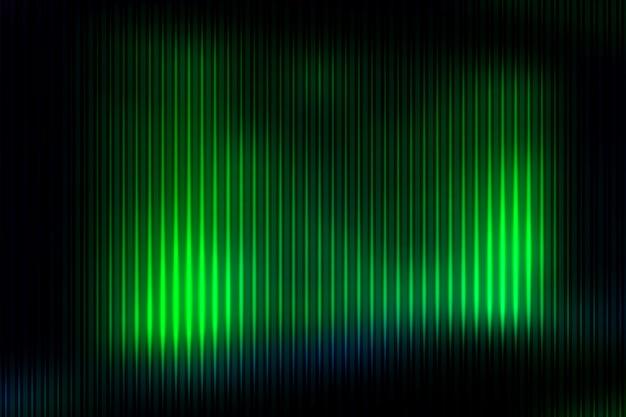 Gloeiende neon groene samenvatting met lichte lijnen vage achtergrond