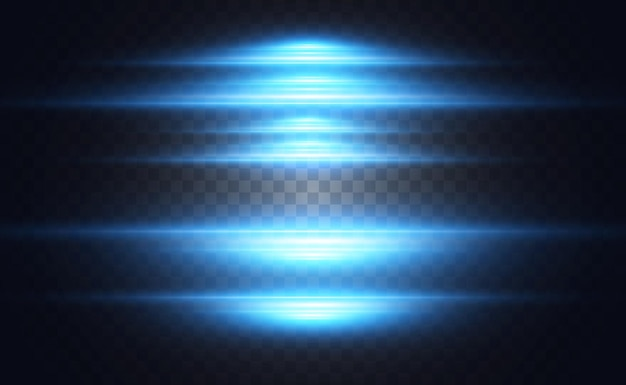 Gloeiende neonlijnen op een transparante achtergrond abstract digitaal ontwerp
