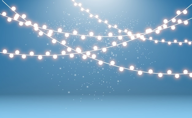 Gloeiende slinger lichtslingers.