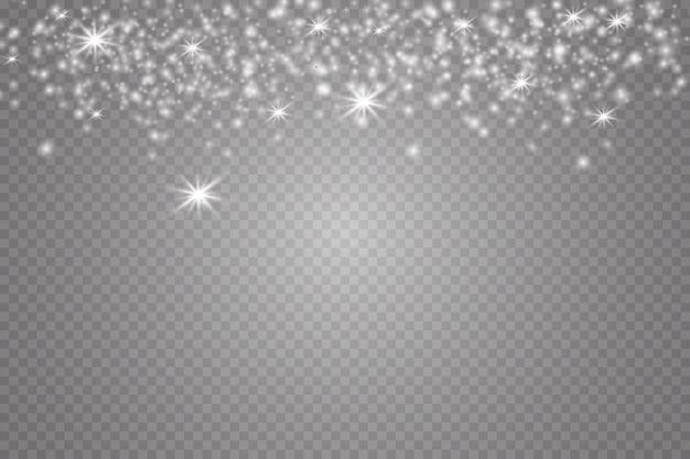 Gloeiende sterren lichten en schittert. glow lichteffect