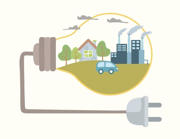 Gloeilamp en bespaar energie