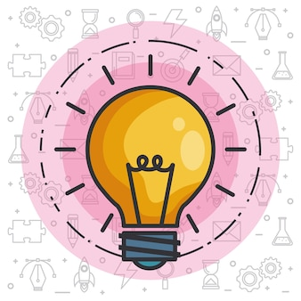 Gloeilamp idee van grote ideeën inspiratie uitvinding van de uitvinding