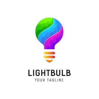 Gloeilamp logo ontwerpsjabloon