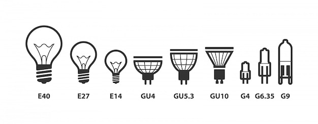 Gloeilamp pictogramserie