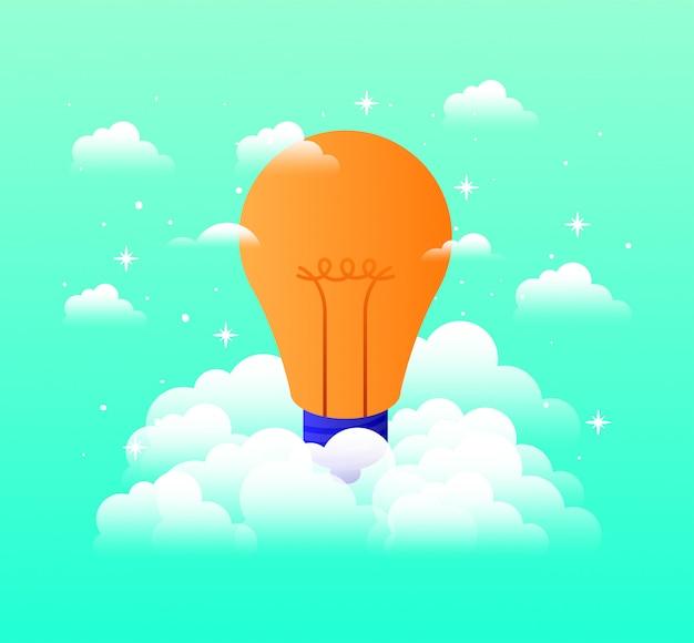 Gloeilamplicht in de lucht