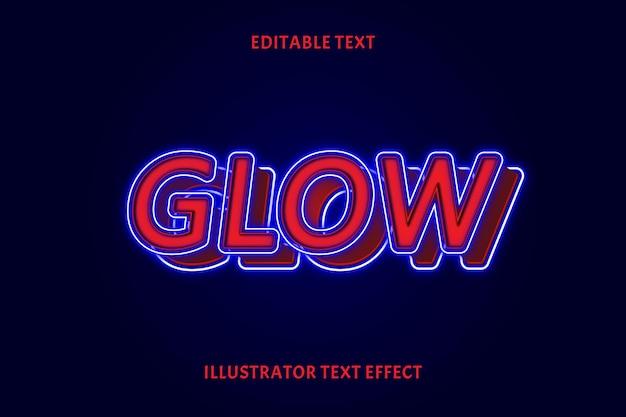 Glow bewerkbaar tekst effect
