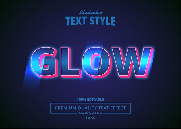Glow bewerkbaar teksteffect