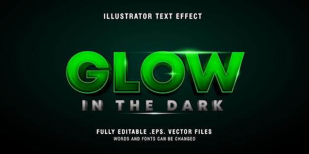 Glow in the dark tekststijleffect, bewerkbaar