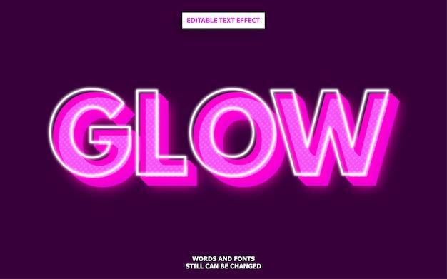 Glow lettertype-effect