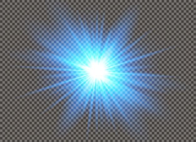 Glow lichteffect. ster barstte van de glitters.