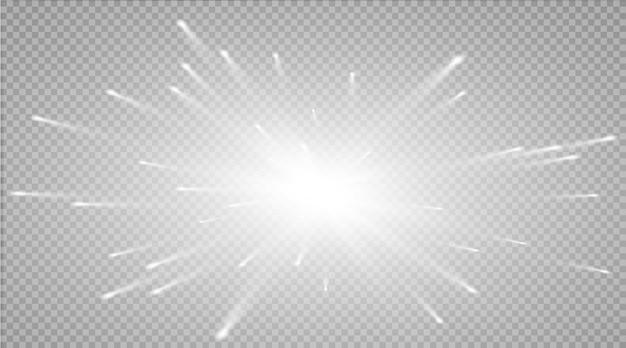 Glow lichteffect. ster barstte van sprankeling.